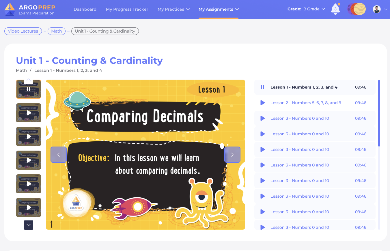 K-8 Math and ELA Video Lectures