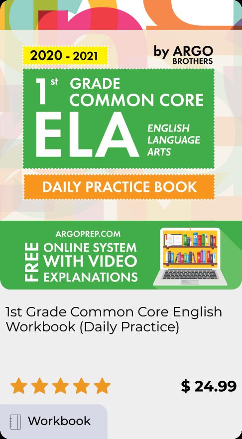 1st Grade Common Core ELA Workbook